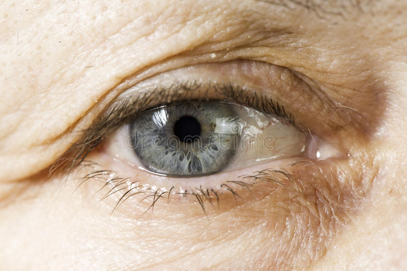 Close up old women eye royalty free stock photography