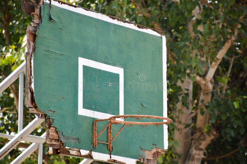 Old wood basketball hoop stock photos