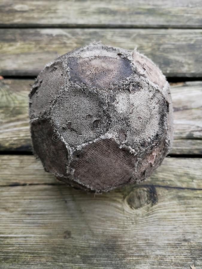 Close-up of an old and worn football. A close-up of an old and worn football. Check out the fine details on the football stock photos