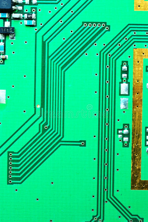 Free Close Up On A Line Of The Old Electronic Circuit Boards Backgro Stock Photos - 29805803