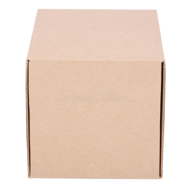 Close-up of one cardboard boxes stock images
