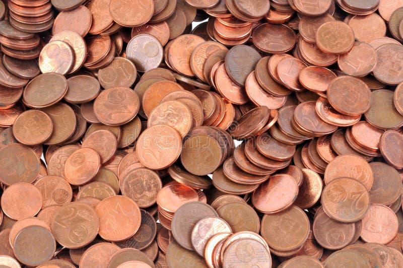 Close-up op eurocenten royalty-vrije stock afbeelding
