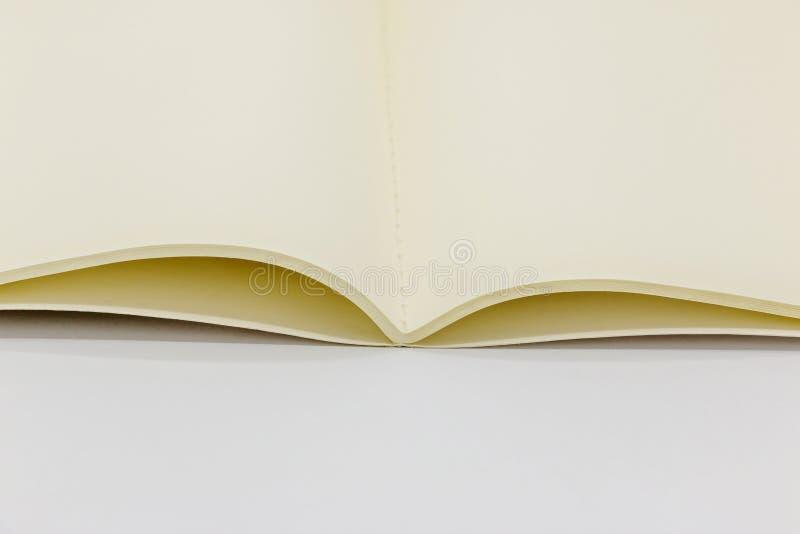 Close-up open notitieboekje stock afbeelding