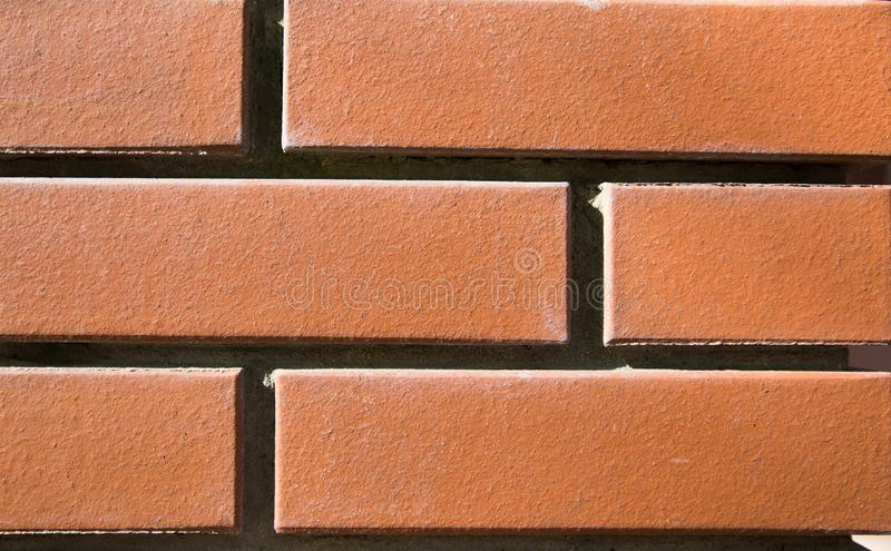 Close up of orange bricks texture or background royalty free stock photos