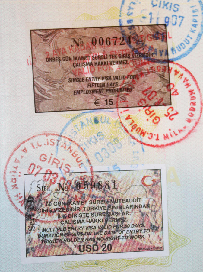 Close-up Page Of Passport Royalty Free Stock Images
