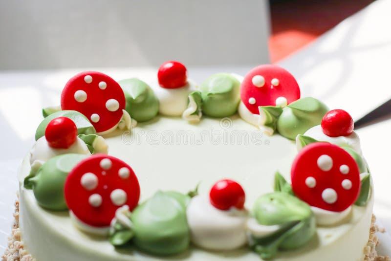 Close up of pandan cake. royalty free stock photography