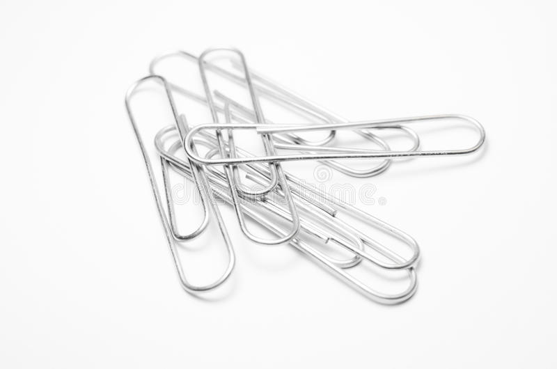Close-up of paper clips royalty free illustration