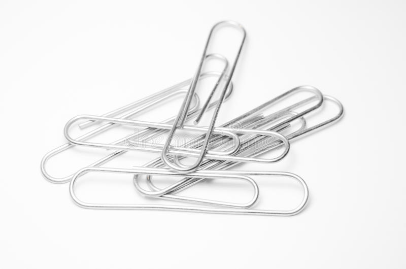 Close-up of paper clips. Close up of metal paper clips vector illustration