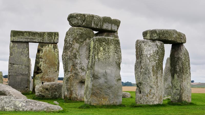Close up of part of Stonehenge, with no people. royalty free stock photos