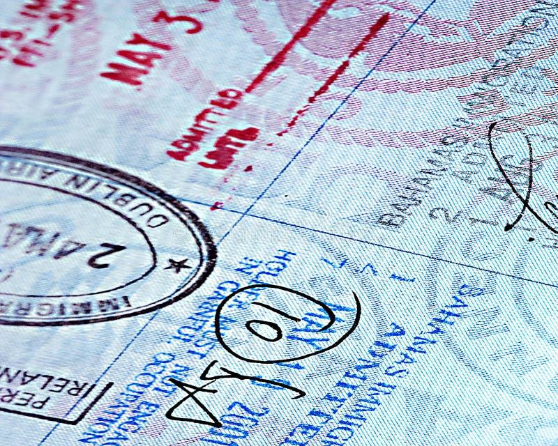 Close up Passport page stock image