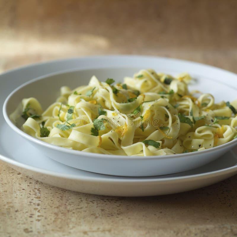 Close up of pasta dish stock photos