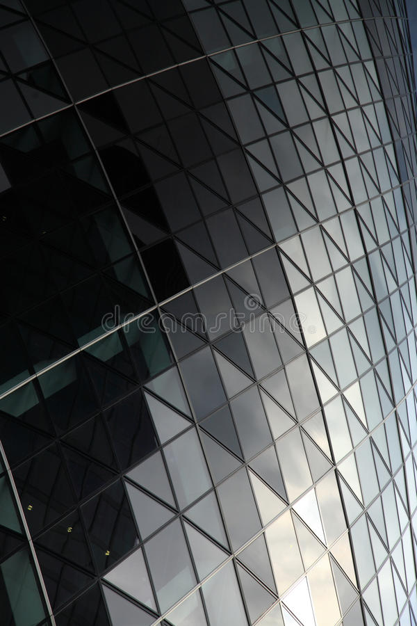 Close up of the patterend glass on the Gherkin