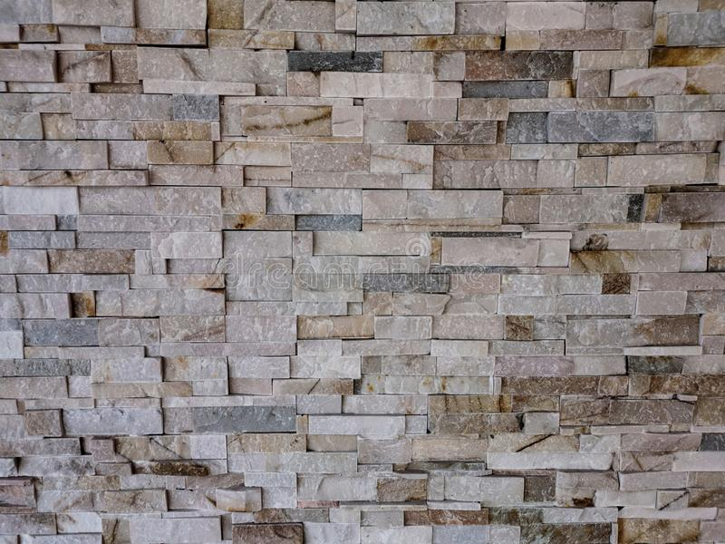 Close up pattern Modern stone wall texture background stock photo