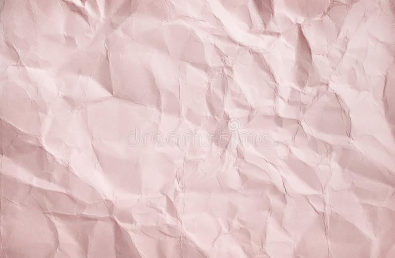 Patterns of blank wrinkle light brown paper texture abstract top view for background royalty free stock images