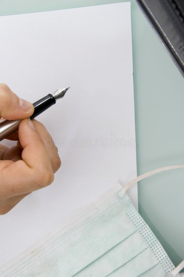 Download Close up of pen and paper stock photo. Image of posing - 7128382
