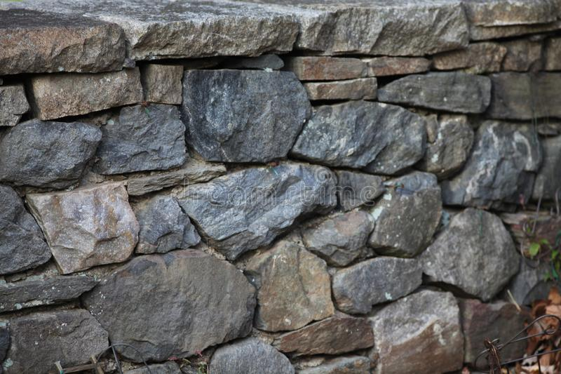 Close up of Pennsylvania stone fence royalty free stock photography