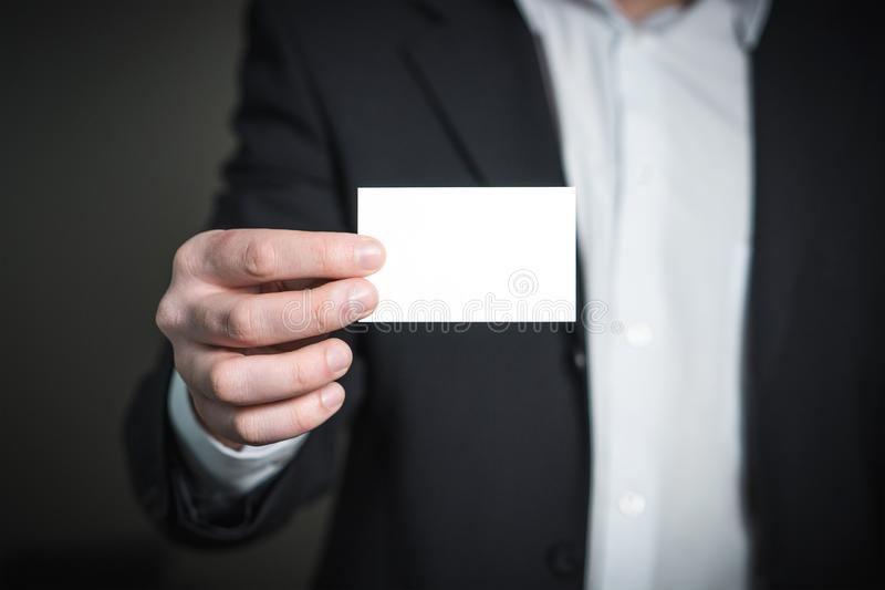 Close-up of a Person Hand With Card stock photography