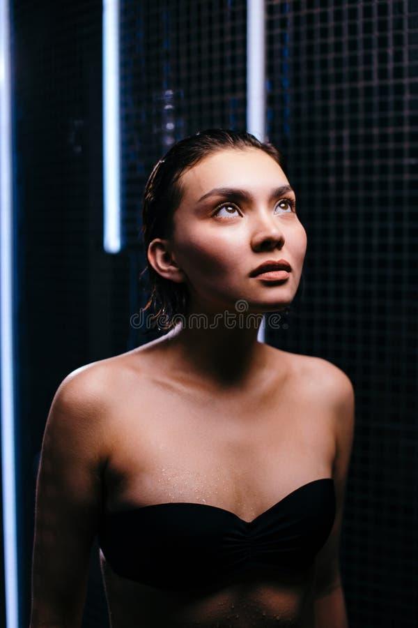the Asian shower in girl