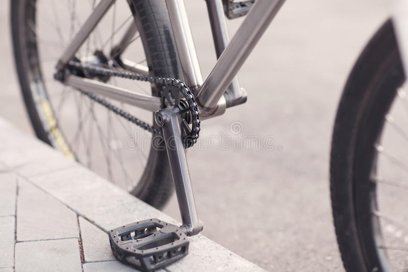 Close-up photo of bicycle chain.  royalty free stock photos