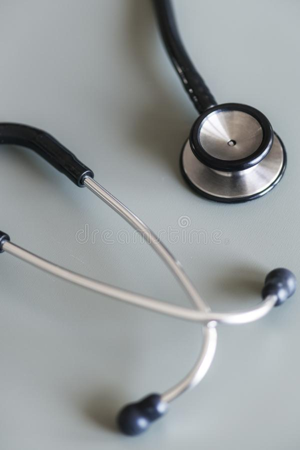 Close Up Photo of Black and Gray Stethoscope royalty free stock photo