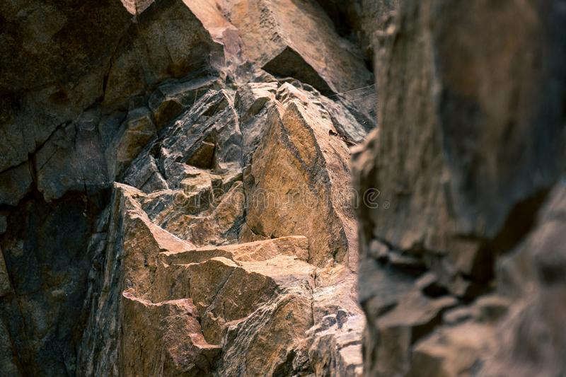 Close-up Photo Brown Brown Rock Formation royalty free stock images
