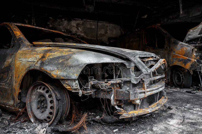 Download Close Up Photo Of A Burned Out Cars Stock Image - Image of burning, arson: 37730211