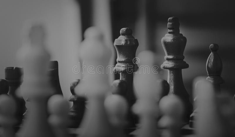 Close Up Photo of Chessboard Pieces royalty free stock photography