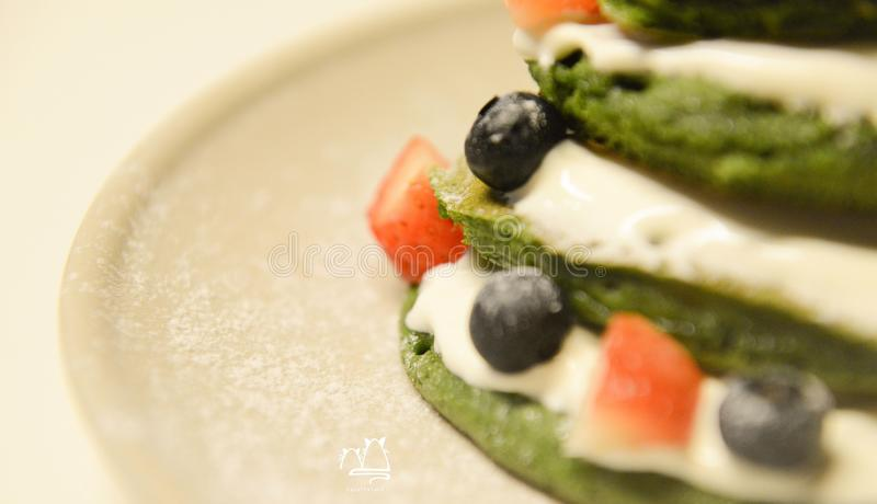 Close-up Photo of a Food in a Ceramic Plate royalty free stock photos
