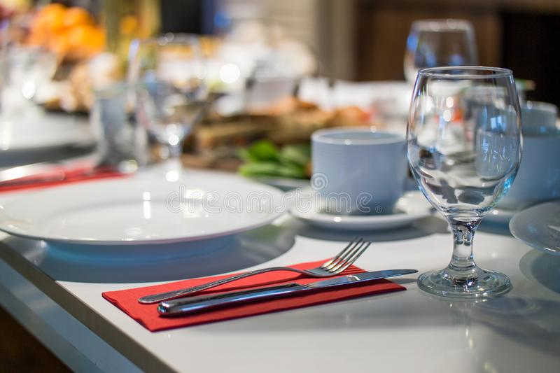 Close-up Photo of Formal Table Setting royalty free stock photos