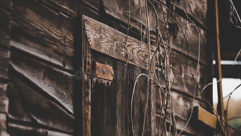 Close Up Photo of Gray Wooden Door stock image