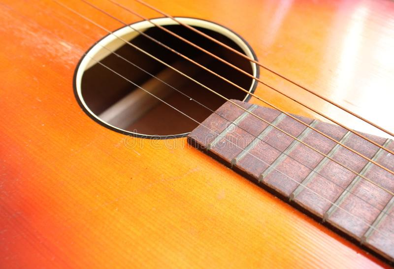 Close-up photo about a guitar royalty free stock photo