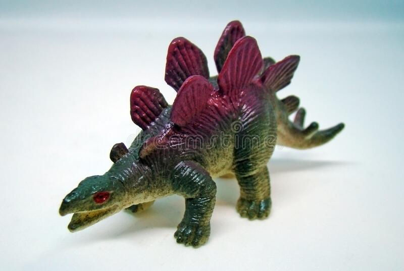 Stegosausus rubber toy stock images