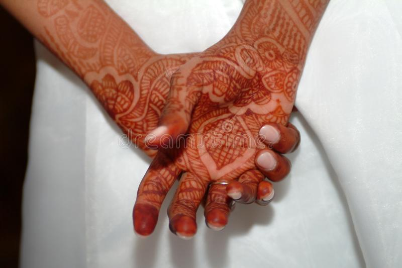 Close-up Photo of Person With Henna Tattoo stock photo