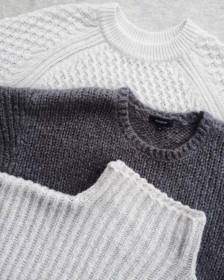 Close-up Photo of Three Sweatshirts stock photos