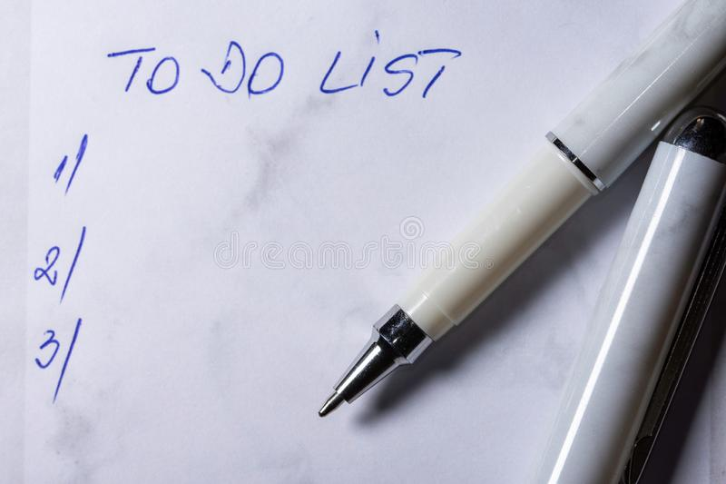 To do list, list of plans for the future royalty free stock photos