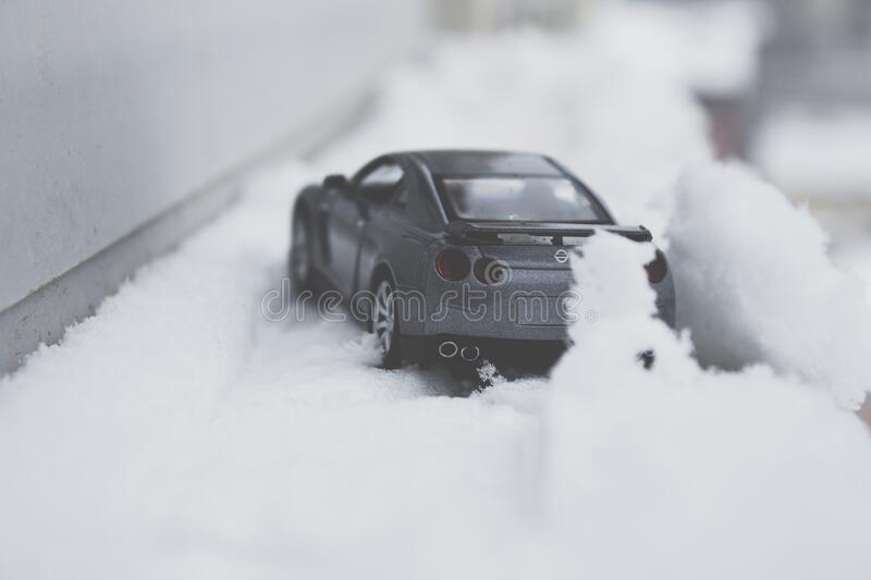 Close-up Photo Of Toy Car On Snow Free Public Domain Cc0 Image