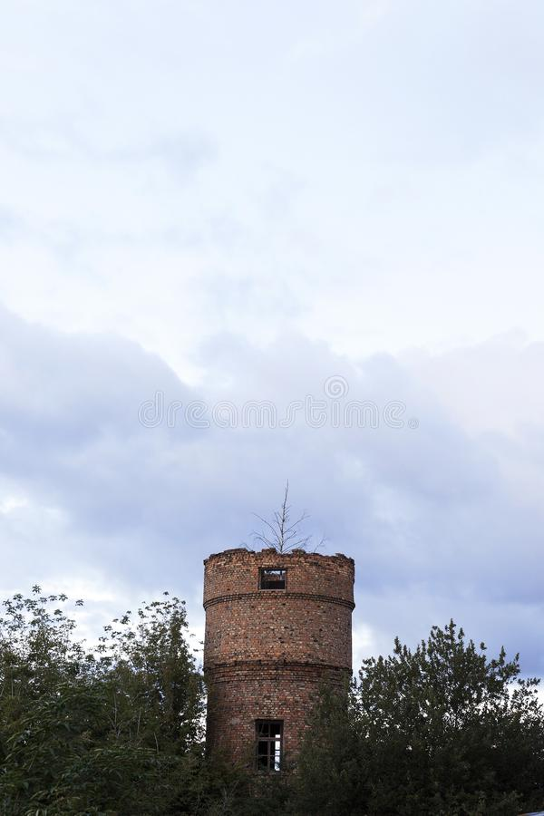 Old destroyed tower stock images