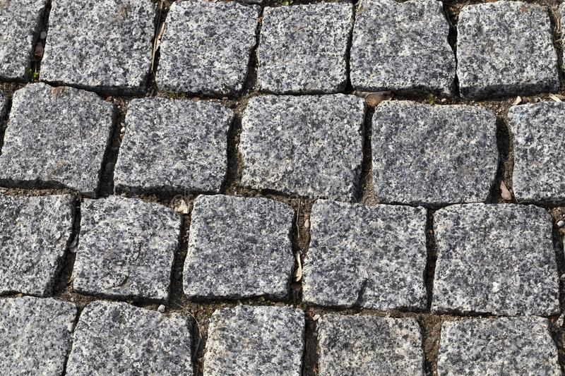 Cobblestones road stock image