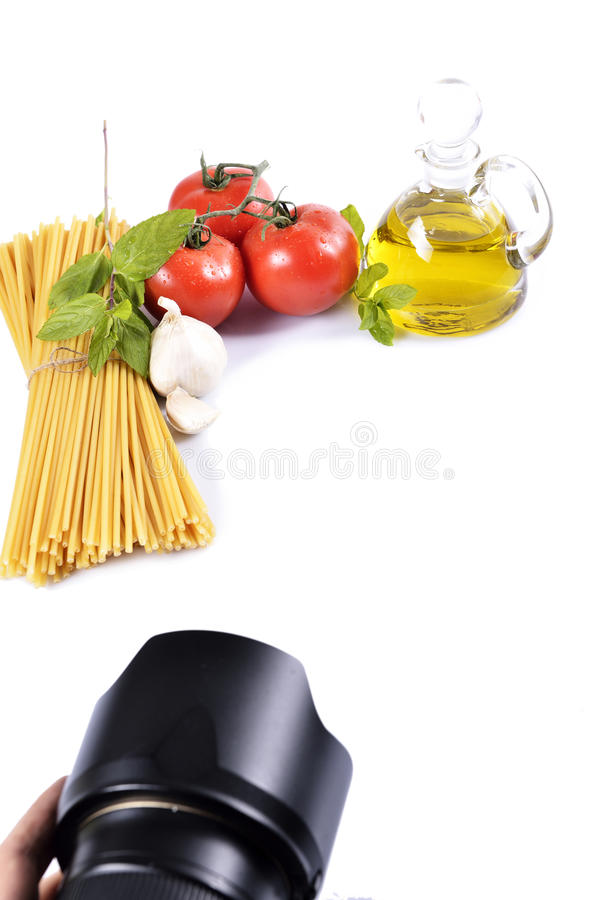 Close up photographer. Mediterranean foods concept close up photo. isolated white background stock images