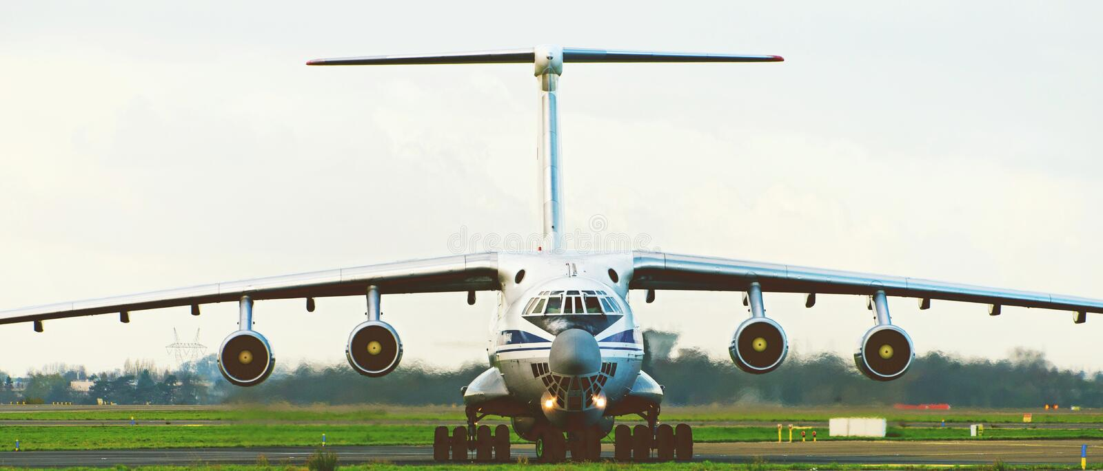Close-up Photography of an Airplane royalty free stock image