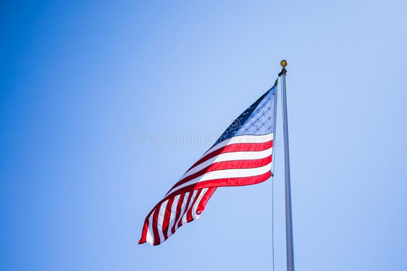 Close-Up Photography of American Flag royalty free stock photo