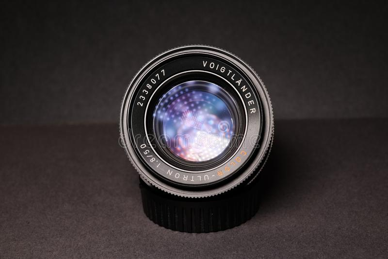 Close-Up Photography of Black Dslr Camera Lens royalty free stock photo