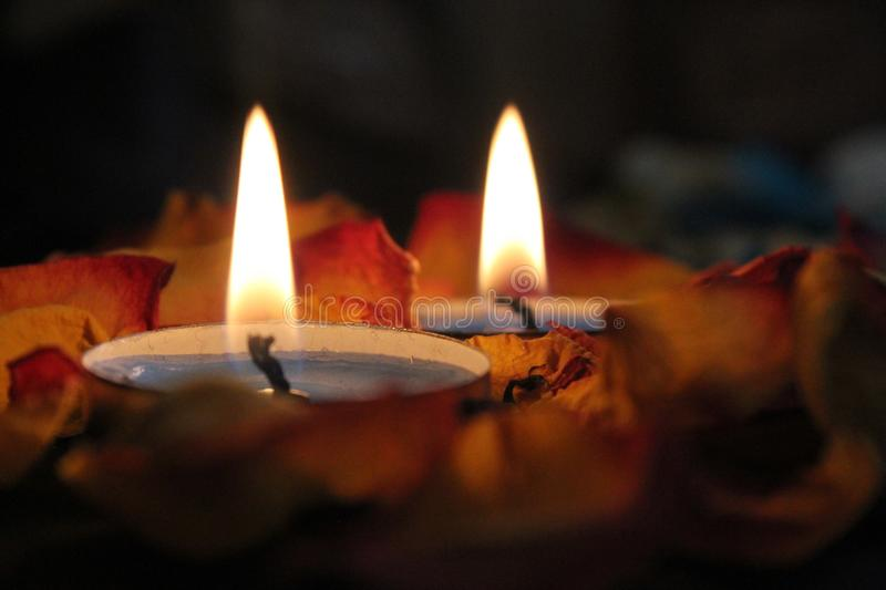 Close-up Photography Of Candels royalty free stock photo