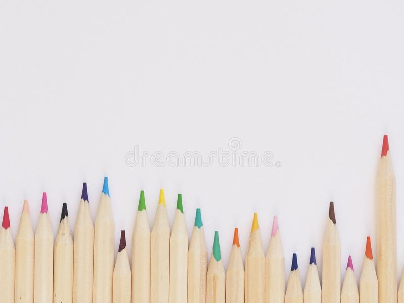 Close-Up Photography of Colored Pencils stock images
