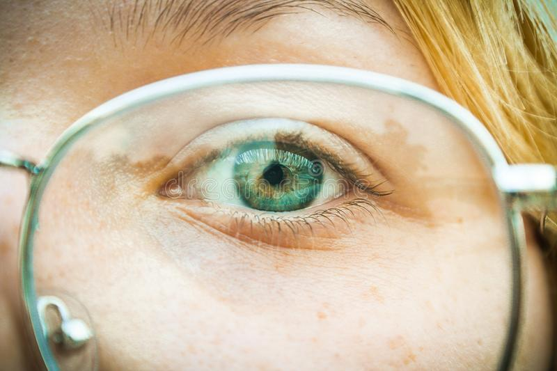 Close-Up Photography of Eye stock photography