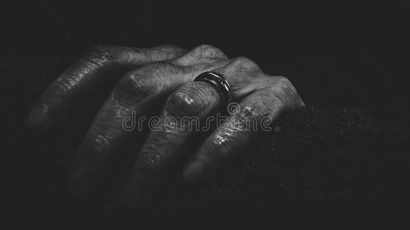 Close-Up Photography of a Hand With Ring stock photos