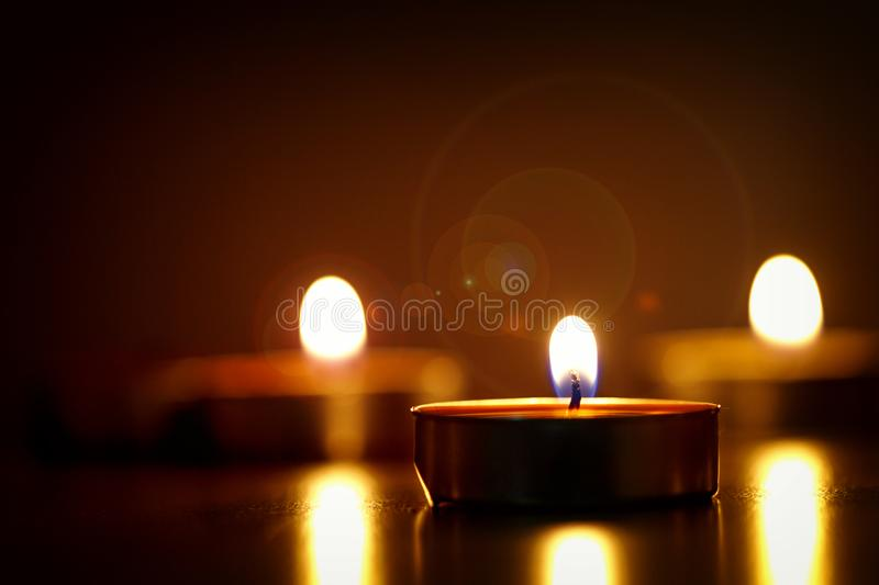 Close-up Photography of Lighted Candles royalty free stock photo