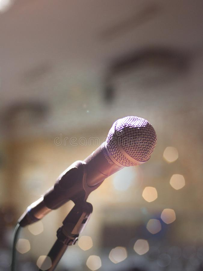 Close-Up Photography of Microphone stock images