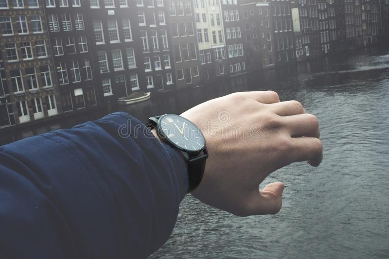 Close-Up Photography of a Person Wearing Wristwatch stock photos