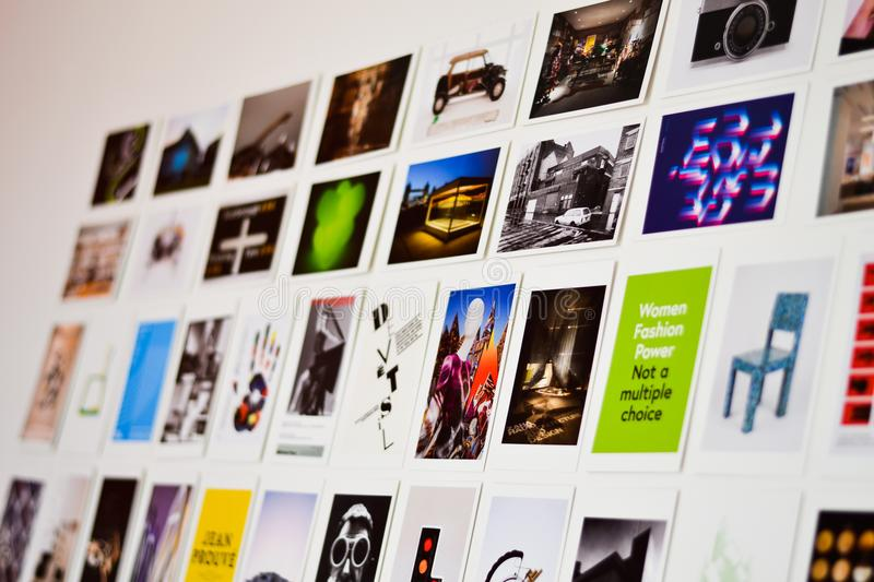 Close-up Photography of Photographs on the Wall royalty free stock images